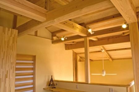 構造材は杉により組まれています。
